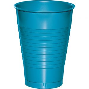 Turquoise Plastic Cups 12 Oz. 240 Ct