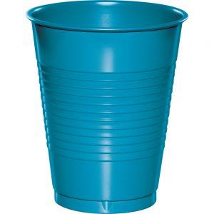 Turquoise Plastic Cups 16 Oz. 240 Ct