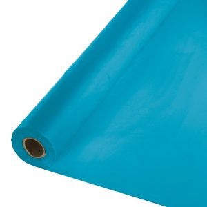 """Turquoise Banquet Roll 40"""" X 100' 1 Ct"""