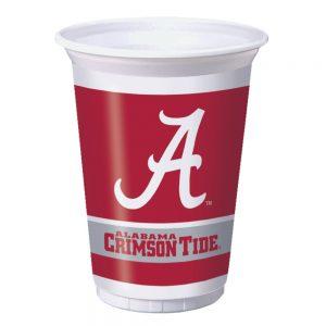 Univ Of Alabama 20 oz Plastic Cups 96 Ct
