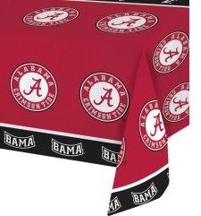 Univ Of Alabama Plastic Tablecover 12 Ct