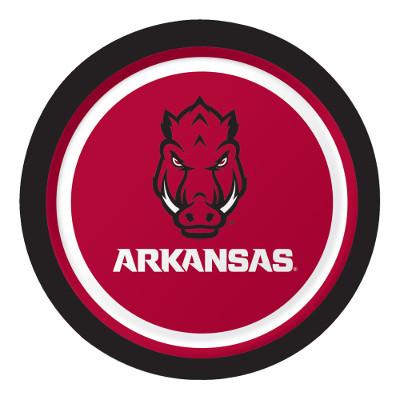 University Of Arkansas Luncheon Plate 96 Ct