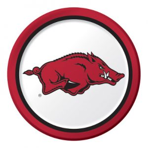 University Of Arkansas Dinner Plate 96 Ct