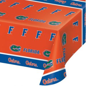 University Of Florida Plastic Tablecover 12 Ct