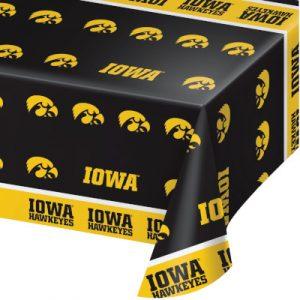 University Of Iowa Plastic Tablecover 12 Ct