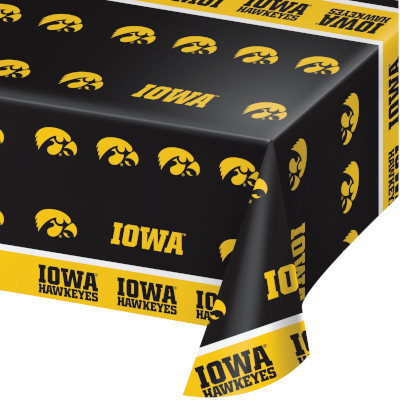 University Of Iowa Plastic Tablecover 12 Ct