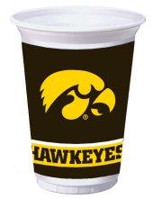 University Of Iowa 20 oz Plastic Cups 96 Ct
