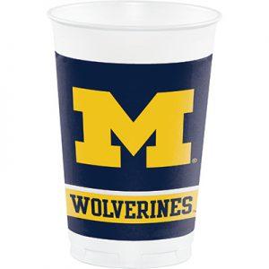 University Of Michigan 20 oz Plastic Cups 96 Ct