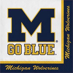 University Of Michigan Luncheon Napkin 240 Ct