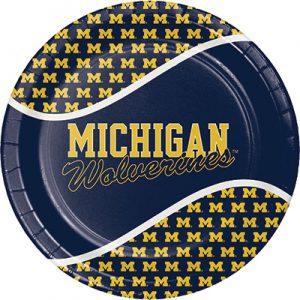 University Of Michigan Dinner Plate 96 Ct
