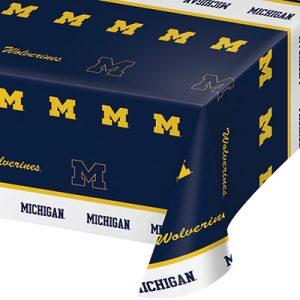 University Of Michigan Plastic Tablecover 12 Ct