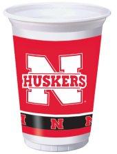 University Of Nebraska 20 oz Plastic Cups 96 Ct