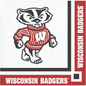 University Of Wisconsin Beverage Napkin 240 Ct