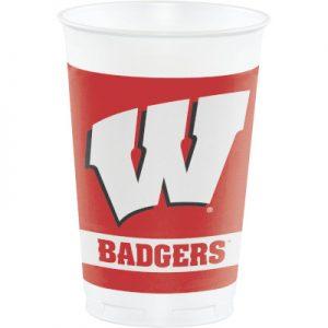 University Of Wisconsin 20 oz Plastic Cups 96 Ct