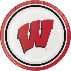 University Of Wisconsin Dinner Plate 96 Ct