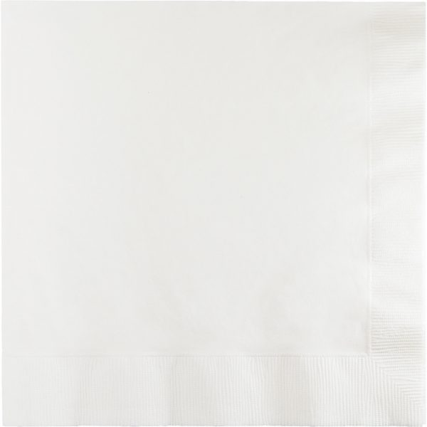 White Lunch Napkins 2Ply 900 Ct