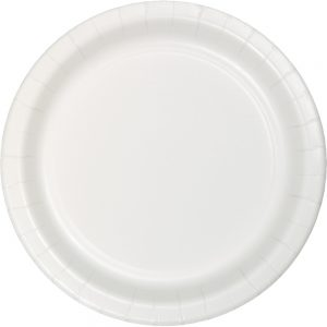 "White Paper Lunch Plates 9"" 240 Ct"