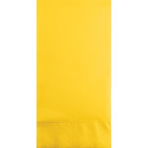 School Bus Yellow Guest Towels 3Ply 192 Ct