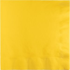 School Bus Yellow Lunch Napkins 2Ply 600 Ct