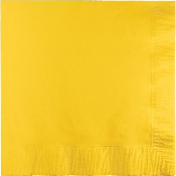 School Bus Yellow Lunch Napkins 3Ply 500 Ct
