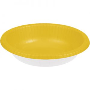 School Bus Yellow Paper Bowls 20 Oz. 200 Ct