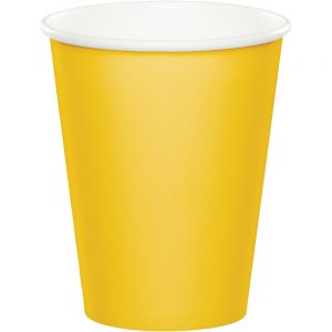 School Bus Yellow Hot/Cold Cups 9Oz. 240 Ct
