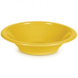 School Bus Yellow Plastic Bowls 12 Oz. 240 Ct