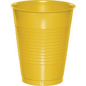 School Bus Yellow Plastic Cups 16 Oz. 240 Ct