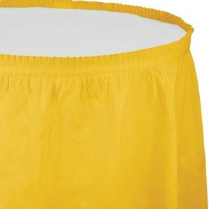 "School Bus Yellow Plastic Tableskirts, 14' X 29"" 6 Ct"