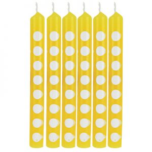 Candles Dots School Bus Yellow 72 Ct