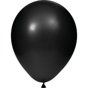 """Black Velvet 12"""" Latex Balloons 180 Ct"""
