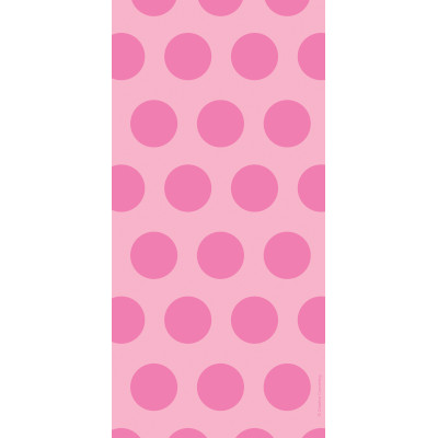 Cello Bags - Two Tone Candy Pink Dot 240 Ct