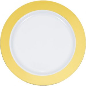 Metallic Rim Dinnerware