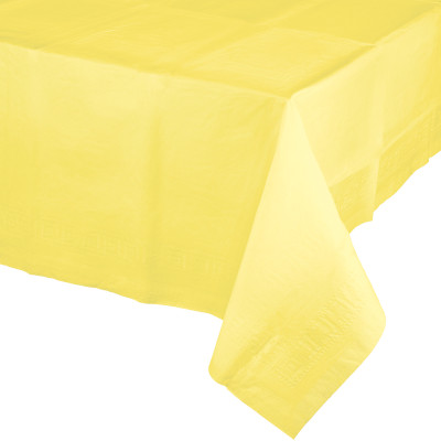 """Mimosa Paper Tablecovers, Poly-Lined 54"""" X 108"""" 6 Ct"""
