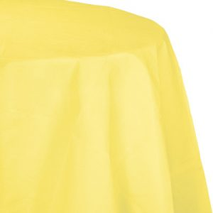"Mimosa Paper Tablecovers, Poly-Lined Octy Round 82"" 12 Ct"