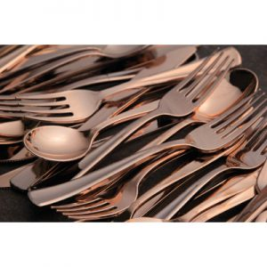 Metallic Dinnerware and Cutlery