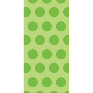 Cello Bags - Two Tone Fresh Lime Dot 240 Ct