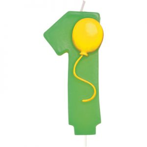 Balloon Numeral 1 Candle 6 Ct
