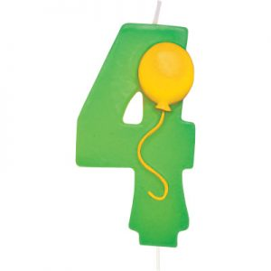 Balloon Numeral 4 Candle 6 Ct
