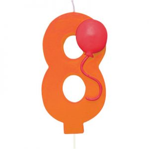 Balloon Number 8 Candle 6 Ct