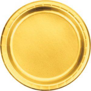 "Gold Foil Paper Dessert Plates 7"", Gold Foil 96 Ct"