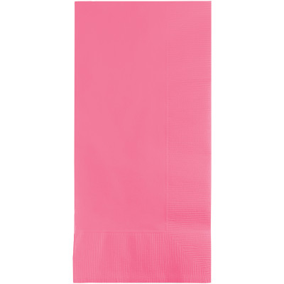 Candy Pink Dinner Napkins 2Ply 1/8Fld 600 Ct