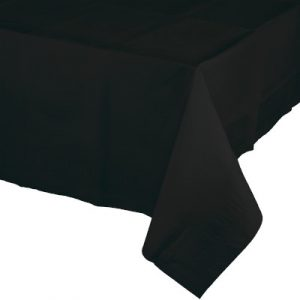 """Black Velvet Paper Tablecovers, Poly-Lined 54"""" X 108"""" 24 Ct"""