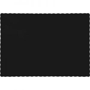 Black Velvet Paper Placemats 600 Ct
