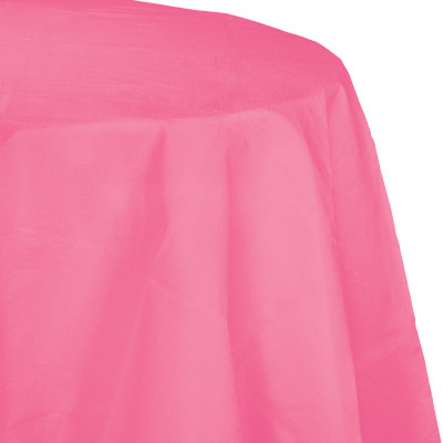 candy pink polylined round tablecover