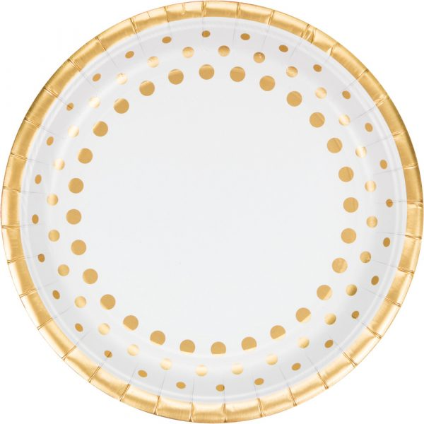sparkle and shine gold dinner plate