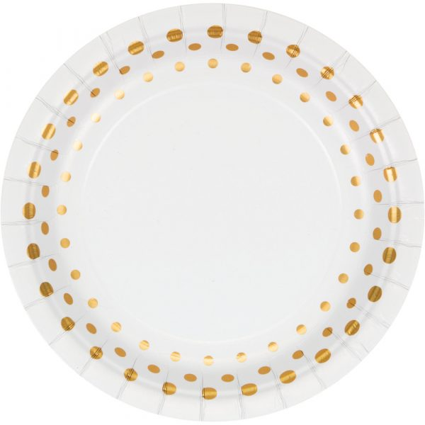 sparkle and shine gold dessert plate