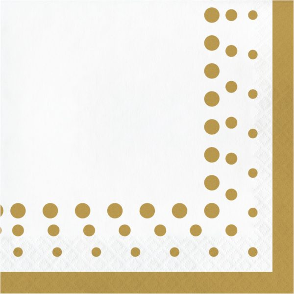 sparkle and shine gold lunch napkin