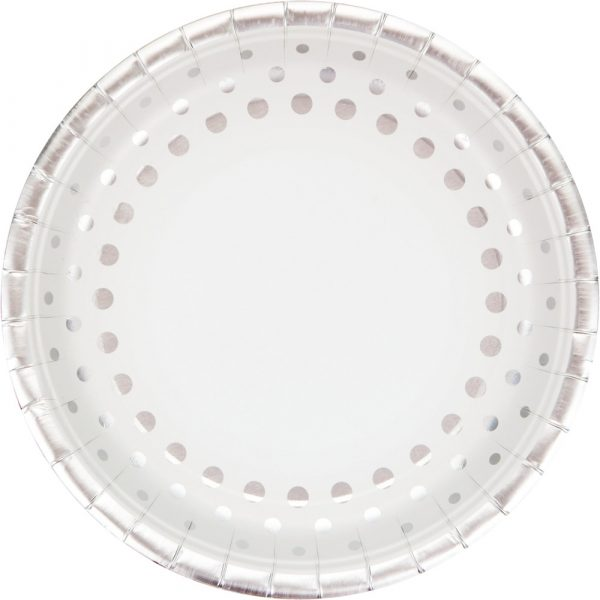 sparkle and shine silver dinner plate