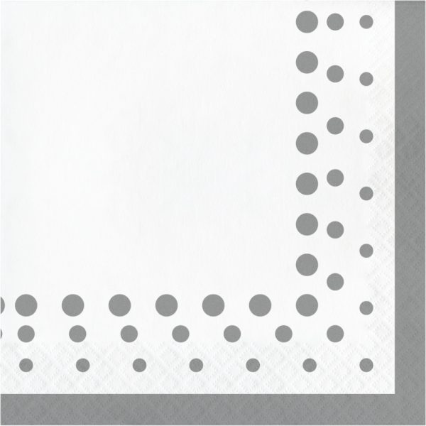 sparkle and shine silver lunch napkin